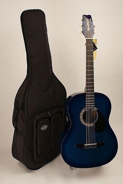 comfortable acoustic guitar acoustic guitar steel string folk size blue burst set up