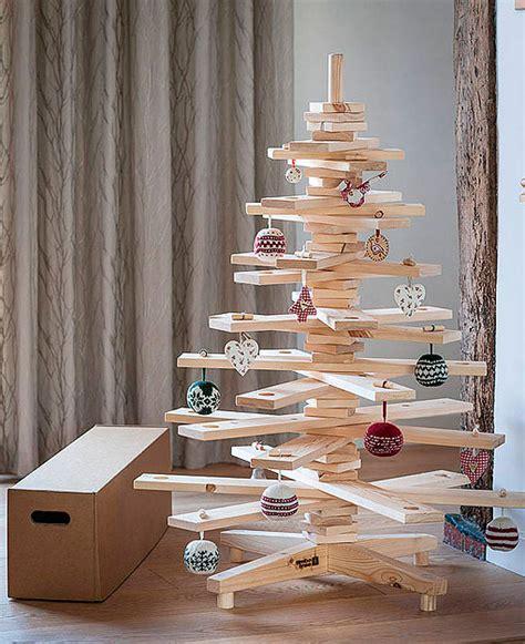ideas diy arboles de navidad en madera