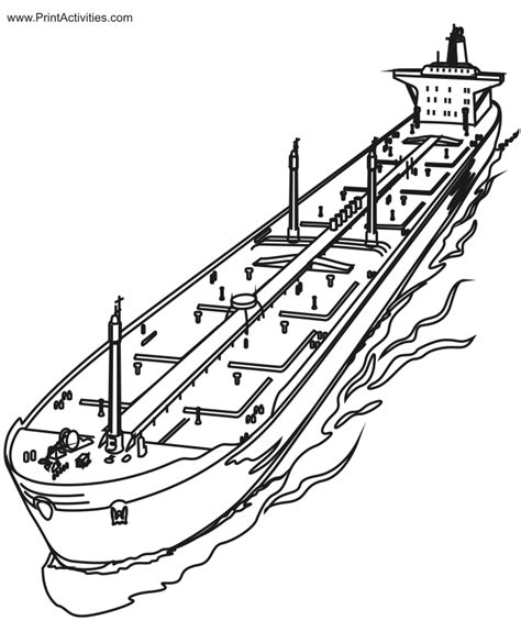 free coloring pages of boat with an anchor
