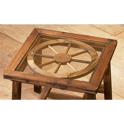 wagon wheel end table 98484 living room at sportsman s