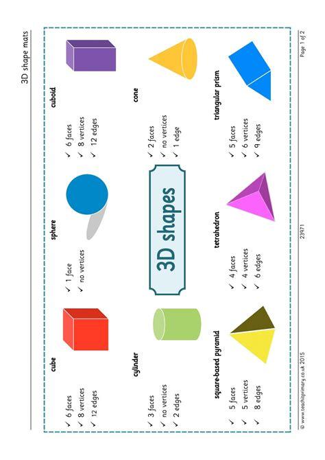 describing face shapes 3d shape mats properties of shapes recognizing naming