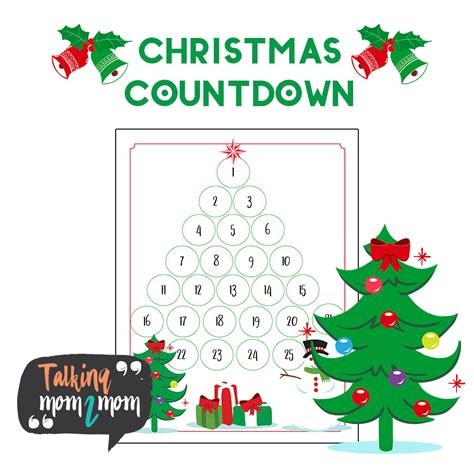 printable christmas tree countdown christmas tree countdown talking mom2mom