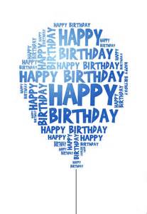 happy birthday card to print blue birthday balloon happy sons and my friend