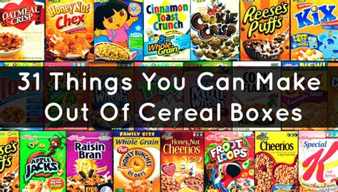 What Can You Make Out Of Recycled Paper - 31 things you can make out of cereal boxes