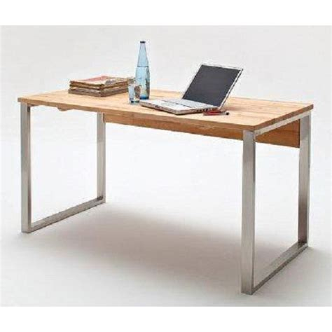solid beech computer desk with chrome legs 22147