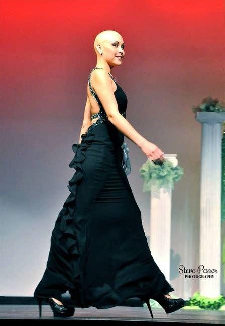 bald women in formal dress utahn doesn t need hair to show true beauty ksl com