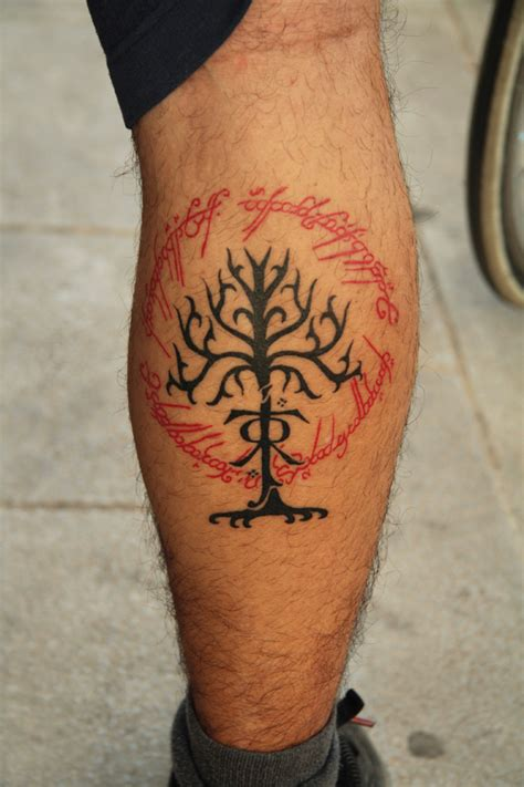 lord of the rings tattoo by kirtatas on deviantart