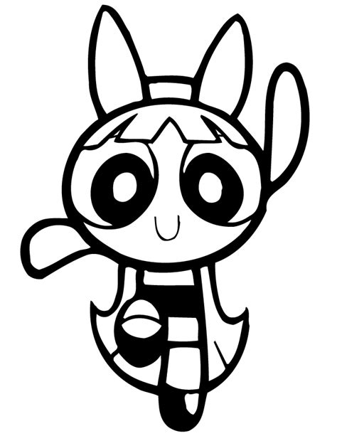 Powerpuff Girls Blossom Dancing Coloring Page H M Power Puff Coloring Pictures