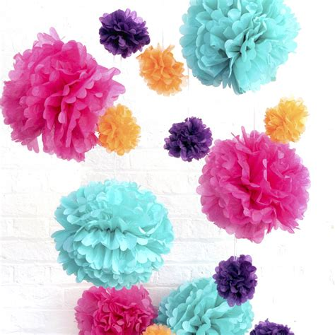 How To Make Pom Pom Balls With Tissue Paper - tissue paper pom poms by blossom