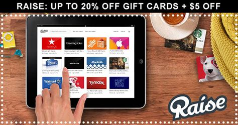 Gift Cards 20 Off - raise up to 20 off gift cards 5 off