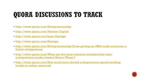 Mba In Entrepreneurship Quora by Startup Reference Guide