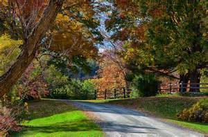vermont fall colors dirt road through vermont fall foliage photograph by jeff