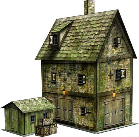 Papercraft Buildings - maritime buildings bundle paper models dave graffam
