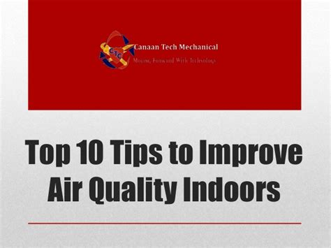 top 10 tips to improve air quality indoors