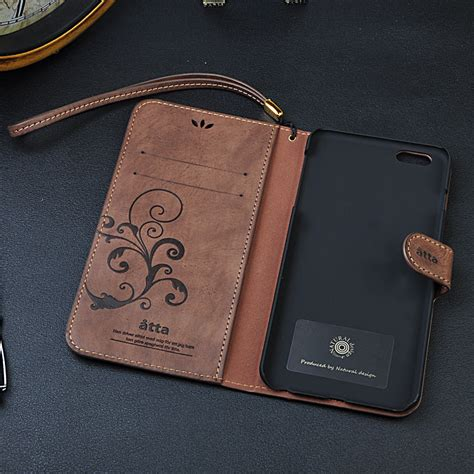 Iphone 5 5g 5s Leather Cover Retro Soft Bumper Armor Mewah retro vintage design pu leather for iphone 5 5s 5g 6 6 plus stand wallet card slot mobile