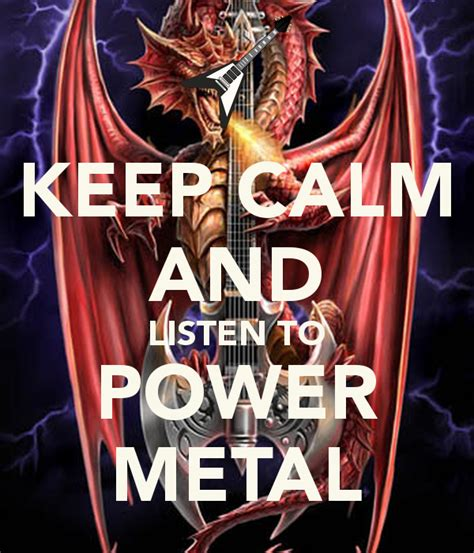 Listen To Metal keep calm and listen to power metal poster michele