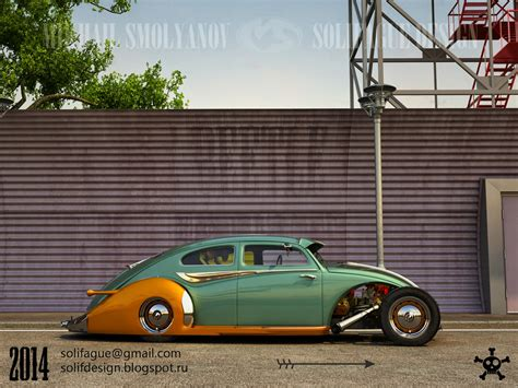 volkswagen old beetle modified this volkswagen beetle hotrod rendering should become real