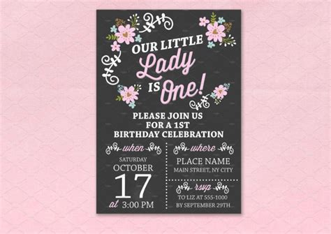 chalkboard card template 14 creative chalkboard birthday invitation templates