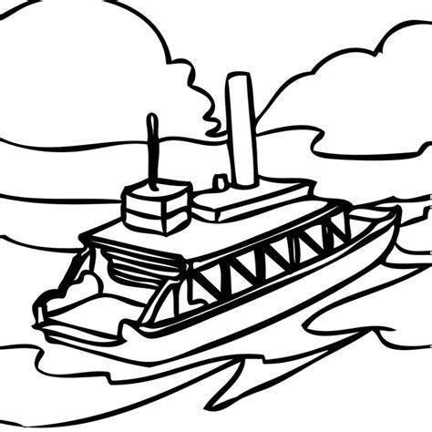dessin facile bateau mouche coloriage bateau mouche a imprimer gratuit