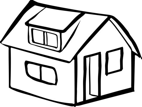 House From Up Outline by Clipart Blank Detached House