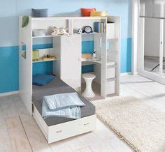 stripe high sleeper bed with storage stairs and