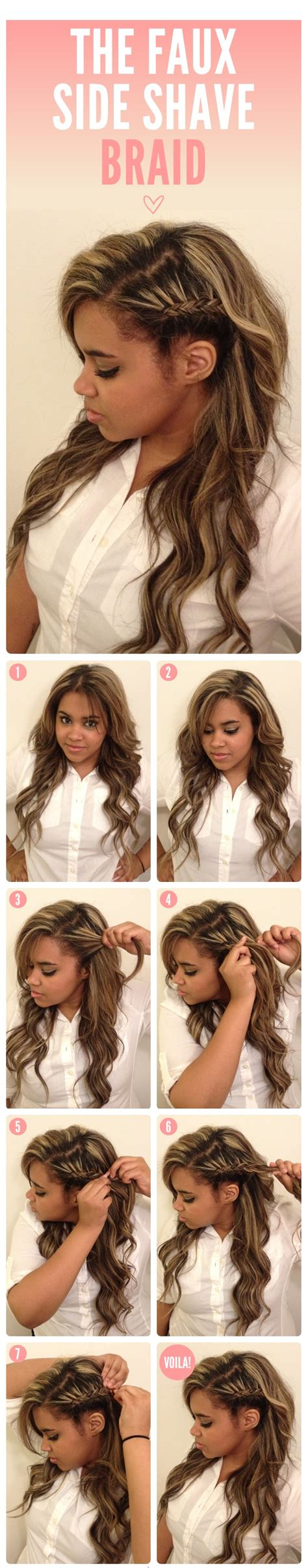 one side shaved hairdo braid tutorials 25 diy braided hairstyles you really have to pin
