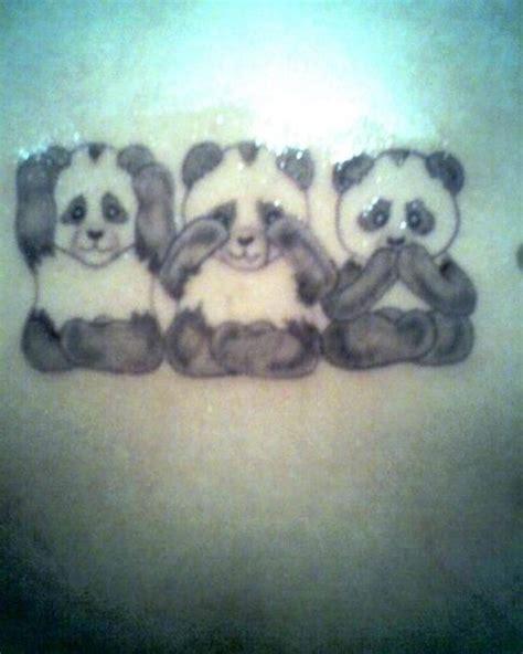 panda effect tattoo 12 mejores im 225 genes de panda tattoos en pinterest