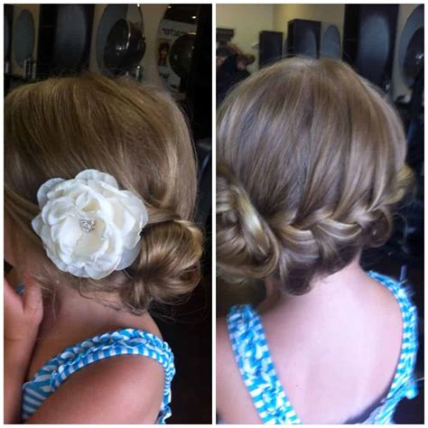wedding hairstyles for little girls best photos   Cute