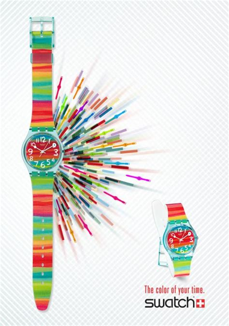 is the color of swatch quot the color of your time quot print ad by escola cuca