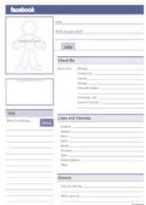 facebook profile free pdf template lesson ideas