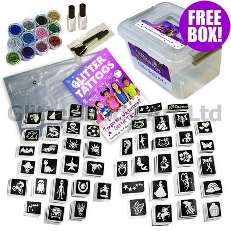 glitter tattoos kits bumper box glitter kit temporary store
