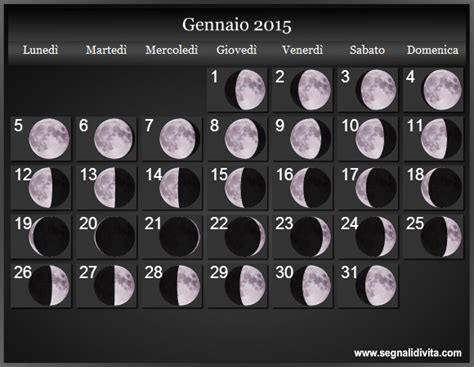 Calendario Lunare Calendario Lunare 2015 Fasi Lunari