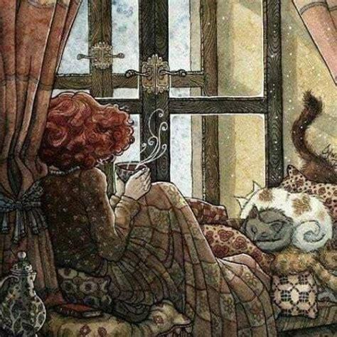 cozy winter tea illustration pictures   images