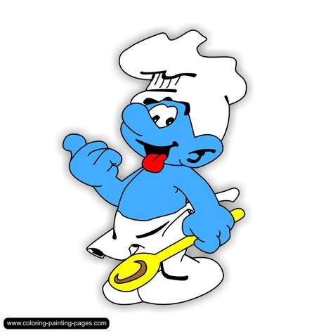smurf painting coloring pages smurfs free downloads