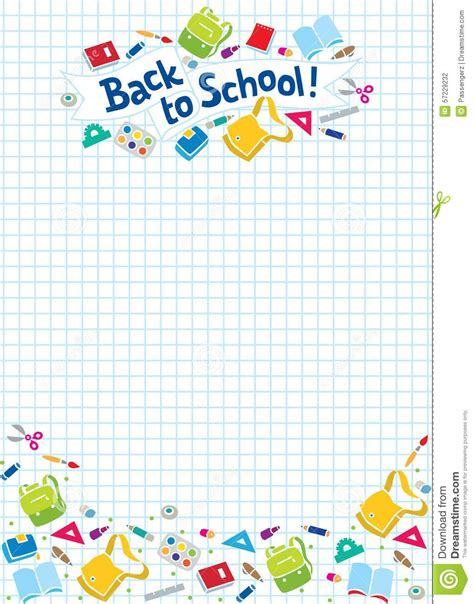 school supplies design template back to school lettering or design template stock vector
