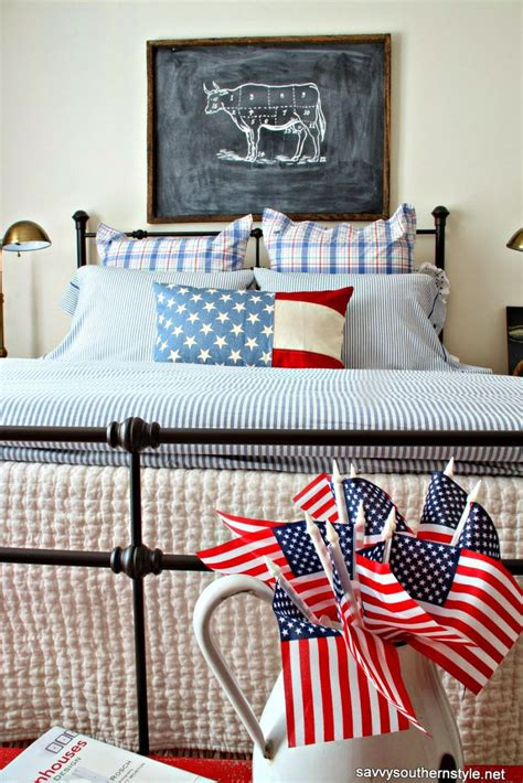 patriotic bedroom decor patriotic guest room decorating with red white and blue