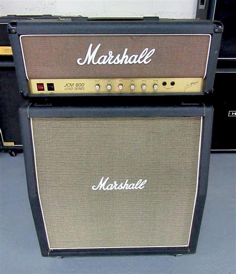 marshall jcm 800 4x12 cabinet marshall half stack w jcm 800 2203 100w mk 2 4x12 reverb