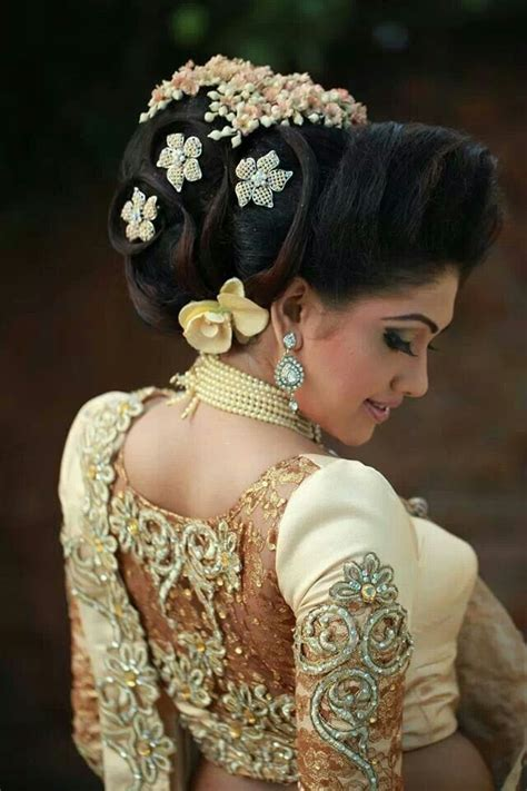 sri lankan bridal hairstyles excellent bun care however should be taken before