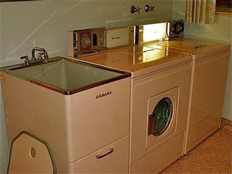 Whirlpool Washer And Dryer With Matching Utility Sink In Laundry Room Sink Faucet