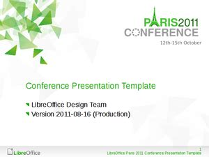 powerpoint templates for conference presentation marketing specialevents libreoffice conference 2011 paris