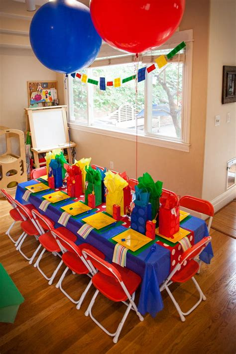 colour themed party decorations kids birthday party table ideas the bright ideas blog