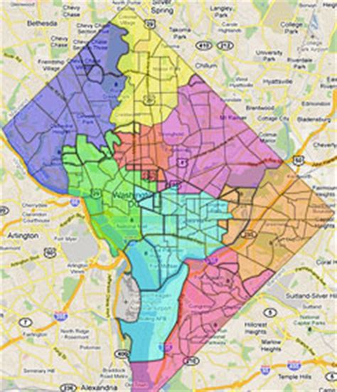 washington dc map of wards redistricting results part 1 the part greater