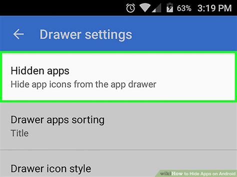 Android Hide Apps From Drawer by How To Hide Apps On Android With Pictures Wikihow