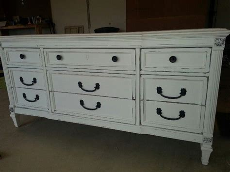 Distressed White Dressers by White Distressed Dresser Painted Furniture