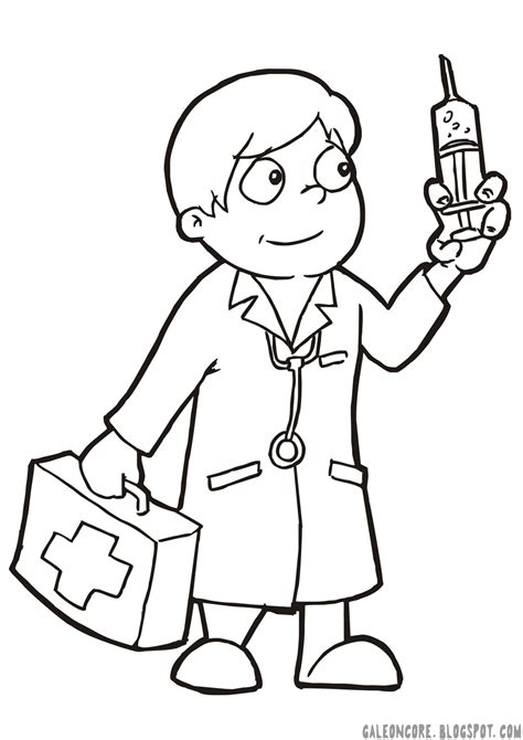 gambar dokter kartun hitam putih bestkartun