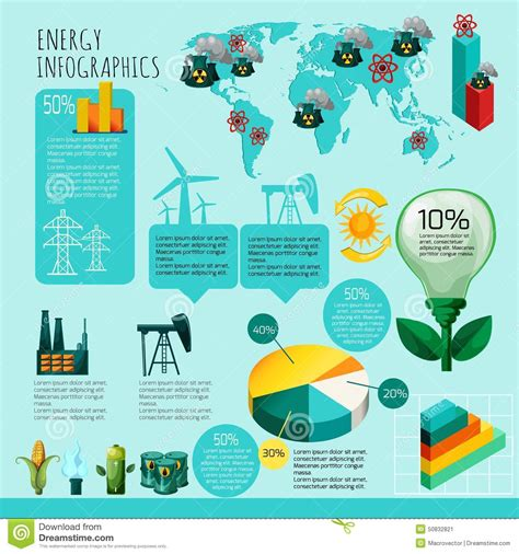 energy infographics set stock vector image 50832821