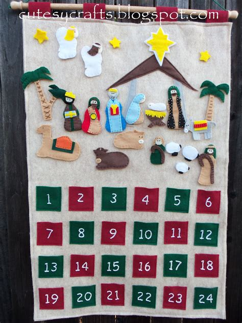 pattern for felt nativity advent calendar nativity advent cutesy crafts