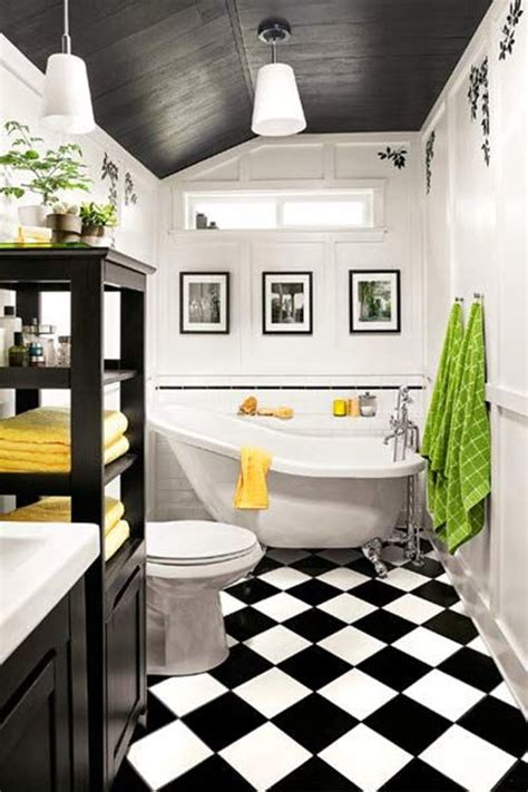 Bathroom Tile Ideas Black And White by 35 Vintage Black And White Bathroom Tile Ideas And Pictures