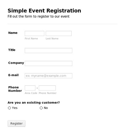 Registration Card Template Word by Registration Form Template E Commercewordpress