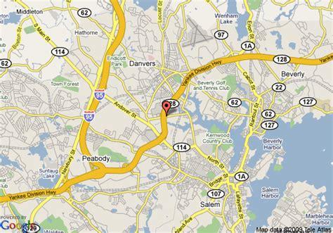 danvers ma map of days inn danvers salem danvers